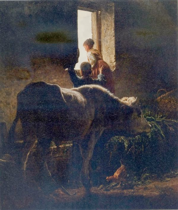 13-Interno di stalla, di Valerio Laccetti