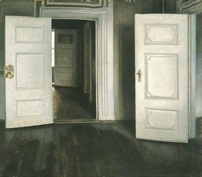White doors or open doors Hammershoi