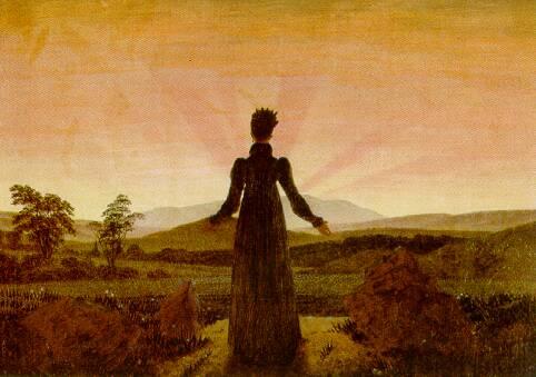 donna che contemla il tramonto