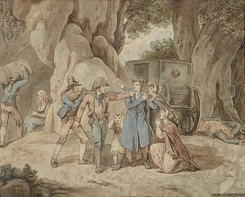 ladri e briganti 350px-Bartolomeo_Pinelli_Überfall_1817