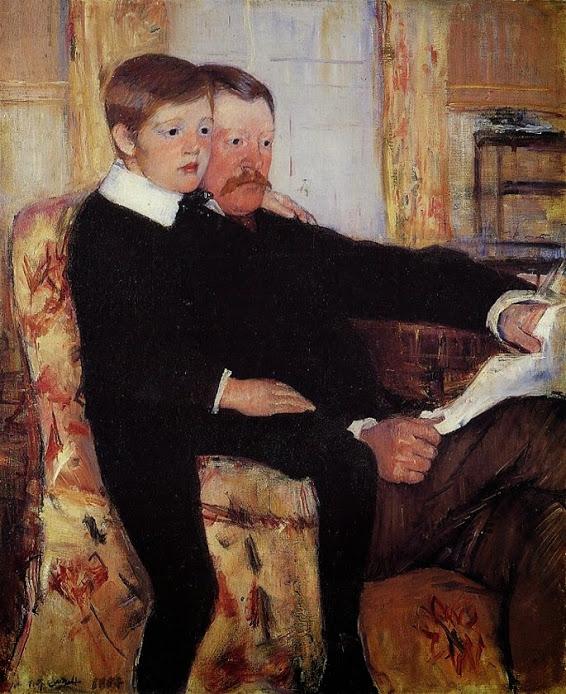 Mary Cassatt, Portrait of Alexander J. Cassatt and His Son