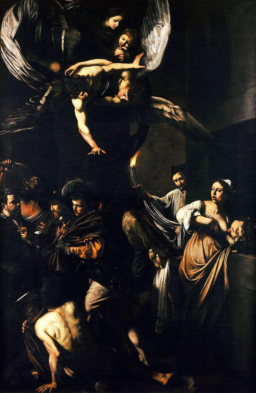 1200px-Caravaggio_-_Sette_opere_di_Misericordia_(1607,_Naples)