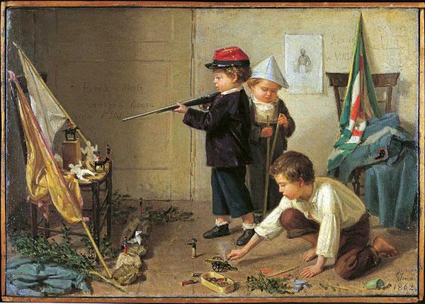 bambini con fucile
